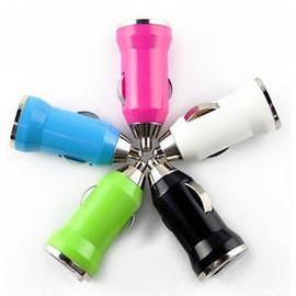 [AA510]htc,iphone,samsung,nokia,motorola,sony,LG 通用型 彩色USB車充頭/汽車點煙器充電器/充電頭  1000mA/1A