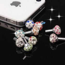 超閃~滿天星鳥巢鑽石手機防塵塞 /蘋果ipad1/2/3 iphone4 iPhone4s 3GS HTC ipad水鑽耳機孔塞