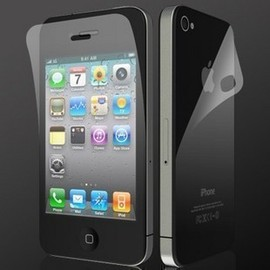 蘋果/apple  iphone4/4S 手機螢幕保護膜/保護貼/三明治貼 (鑽石膜)