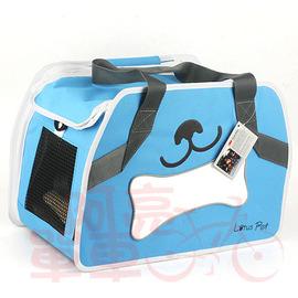 LOTUS 側掛式可愛寵物袋~SH2~046PETR~,小狗圖案,藍色~C83~039~