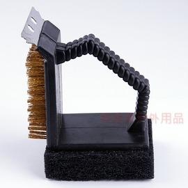 M-7634 CAPTAIN STAG 日本鹿牌L型鐵板刷+鋼刷+刮板(燒烤網.焚火台.荷蘭鍋必備)