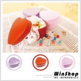 【winshop】B1338 愛心型收藏鐵盒(素面)可DIY裝飾/婚禮小物包裝糖果盒禮品盒贈禮品盒喜糖盒馬口鐵盒/可印字