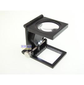 9005A 高倍率10x 照布鏡 看布鏡 放大鏡 帶刻度 指針 LED照明
