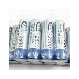 BTY 超強容量3號 鎳氫充電電池 2500 mA (單顆)