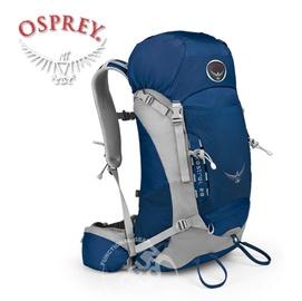【美國 OSPREY】Kestrel 28L 小鷹級 輕量健行登山背包(3D立體網背/附背包套/緊急哨/登山杖扣)自助旅行.出國打工旅遊/冰湖藍
