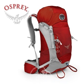 【美國 OSPREY】Kestrel 28L 小鷹級 輕量健行登山背包(3D立體網背/附背包套/緊急哨/登山杖扣)自助旅行.出國打工旅遊/火紅(大里)*