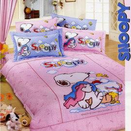 【活力史努比】雙人三件式床包組(粉色)-D3M-SP012P