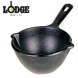 丹大戶外用品~LODGE ~Melting Pot 14oz 5.5吋奶油鑄鐵熔鍋 迷你荷