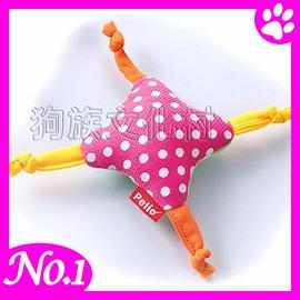 ~ PETIO~4114 啾啾布製玩偶~花 ~小中型犬用VISPO系列玩具~左側全店折價卷