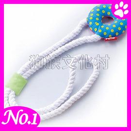 ~ PETIO~4116 啾啾互動潔牙繩~甜甜圈 ~小中型犬用VISPO系列玩具 ~左側全
