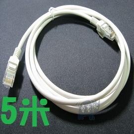 優質水晶頭  CAT.5E 一體成型 網路線/網線 (5米/5M) 藍/白
