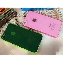 0.7mm超薄 iPhone 4s/4  日本蘋果手機套/手機殼/保護套 (桃紅/青黃/透明/紫)