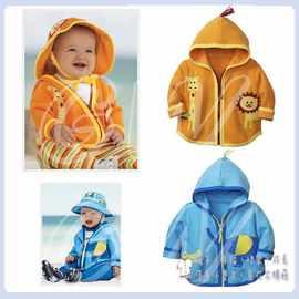 ~╮衣騰藤寶貝屋╭ ~~WS008~美單可愛動物空氣棉貼布連帽外套~呎碼~80.90.10