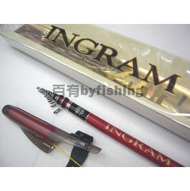 ◎百有釣具◎日新NISSIN   INGRAM LIMITED MODEL 1.5號530 磯釣竿(紅竿)~送竿袋+卡夢線