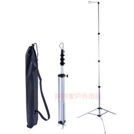 GK-2D方管高硬度鋁合金伸縮燈架 營柱(台灣製造) 軌道式彈扣鋁柱 吊燈架