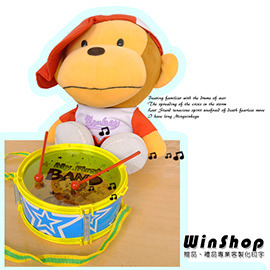 【Q禮品】A1362 兒童雙面玩具鼓(附一對鼓棒)/打擊樂器腰鼓扁鼓太鼓歡樂鼓打鼓大鼓中鼓小鼓爵士鼓