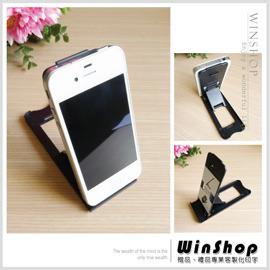 【Q禮品】A1357 平板電腦智慧型手機支撐架/iphone4平板電腦支撐架ipad iphone4s透明折疊托架平板支撐架