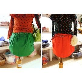 ~~宅媽 ~~ ~G09004~編織腰帶彈性短裙~2色