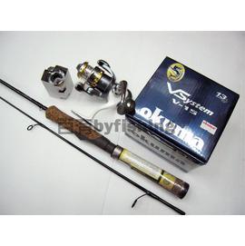 ◎百有釣具◎FENWICK美國鷹牌 HMG 路亞鱒魚竿 GS-60UL/GS-66ML+ OKUMA  VSYSTEM V-15紡車捲線器 套組