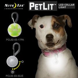 【美國 NITE IZE】PetLit LED Collar Light LED 狗狗/貓咪 寵物勾環項圈燈-迷你白光LED燈.露營.自行車夜騎. PCL02-03-02JE