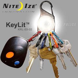 【美國 NITE IZE】Key LED 鑰匙圈燈-迷你白光LED燈/手電筒/露營燈.適用登山.露營.自行車夜騎.散步.兒童單車 KRL-03-02