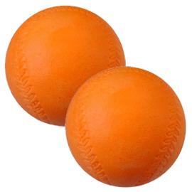 樂樂軟式安 2入 軟式棒球 訓練球 彈跳球 低彈球 樂樂棒球 檢驗合格
