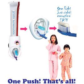 超kuso造型 哈伯二齒 觸碰式超輕鬆自動擠牙膏機~吸盤式