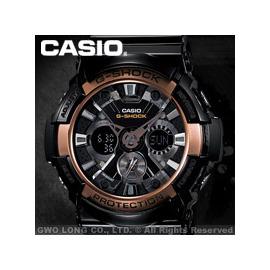 CASIO 手錶  GA~200RG~1A 復古玫瑰金限定 金屬雙顯男錶^(另GA~201
