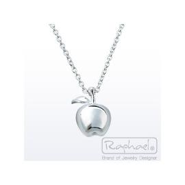 ~奇美珠寶~~拉法兒Raphael~銀蘋果~純銀項鍊墜  情人節 生日 聖誕節