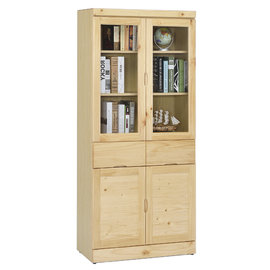 ~尚品傢俱~ ~自運價~ Q~GF~E02 松木實木3x6尺中抽書櫃 書櫥