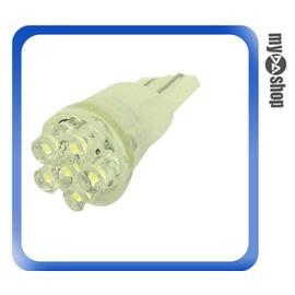 ~DA量販店~2顆 高亮度 T10 小炸彈 6 LED 白光 平頭 散光 方向燈 霧燈 ^