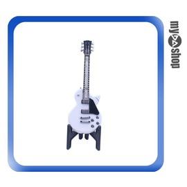 ~DA量販店~電吉他  瓦斯 打火機 附架 可重複 隨身 飾品 白色樣式 78~2924