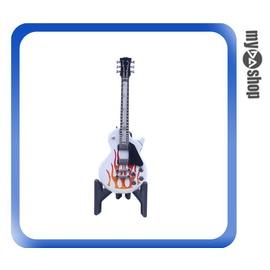 ~DA量販店~電吉他  瓦斯 打火機 附架 可重複 隨身 飾品 紅色火焰 78~2922