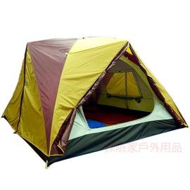 探險家露營帳篷㊣JL737R日規六人雙門雙窗四季帳篷 蒙古包 蝴蝶帳(金色配酒紅色)台灣製造