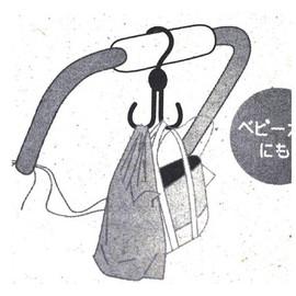 汽車用/衣櫥用/購物車用 可旋轉一拖二掛鈎