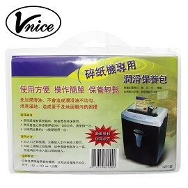 A0736~VNICE~碎紙機 潤滑保養包~12片入