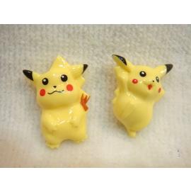 Pokemon^(神奇寶貝^) 可愛 立體塑膠鈕釦二入  製 4972873427009