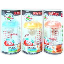 Nuby 寬口徑防脹氣玻璃奶瓶240ml