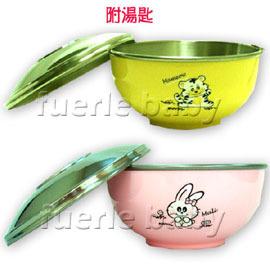 ZEBRA 斑馬不銹鋼蓋兒童碗-附湯匙