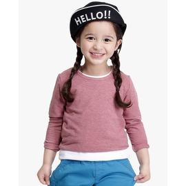 lifeway 製 Child蓄熱保暖衣~半高領 ^(麻灰粉^)