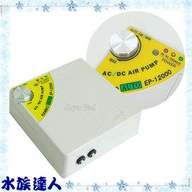 【水族達人】【打氣馬達】藍波《AC/DC自動切換不斷電雙孔空氣幫浦.EP12000》