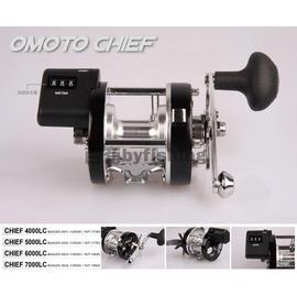 ◎百有釣具◎V-FOX代理 台灣造製 OMOTO CHIEF系列 4000LC型 海水版附計米器鼓式捲線器~小船/筏釣/桶龍蝦超值選擇