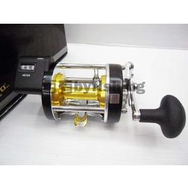 ◎百有釣具◎V-FOX OMOTO CHIEF系列 7000LC型 鼓式捲線器海水版附計米器鼓式捲線器~小船/筏釣/桶龍蝦超值選擇