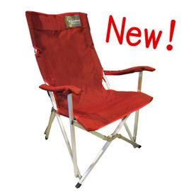 【Outdoorbase】楓紅原野版 高背休閒摺疊椅-骨架強化穩固.午休椅.看護椅.太師椅.折合椅.露營椅.戶外折疊椅 紅/25025
