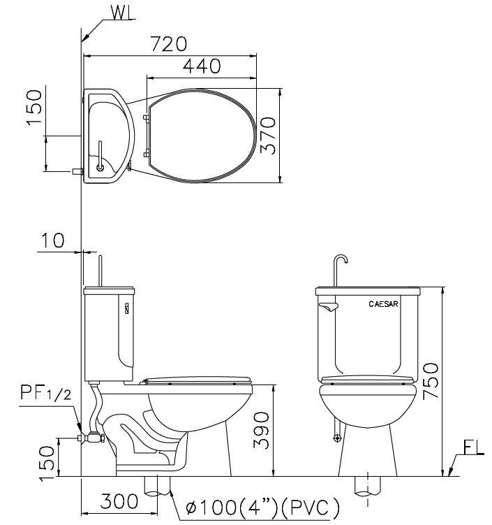 豪盛顺精品卫浴凯萨儿童马桶ct1026-36cm(特殊规格)