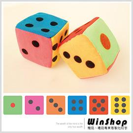 【Q禮品】A1423 7x7海棉鈴噹骰子/彩色/大富翁親子同樂禮贈品,遊戲時皆可使用,好玩又安全!!