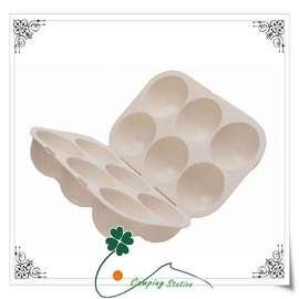 大林小草~【M-9523】 CAPTAIN STAG 日本鹿牌抗菌六粒裝蛋盒/保護攜帶式蛋盒