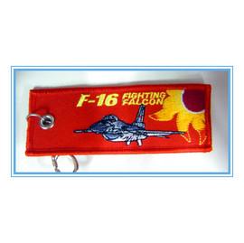 嘎嘎屋嘎嘎屋 空軍 F16戰鬥機 刺繡飄帶 鑰匙圈 鎖圈 J0010