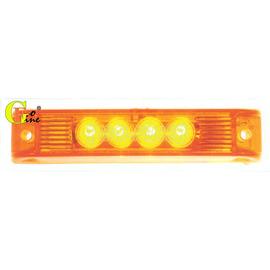 ~GO~FINE 夠好~車用led4LED燈黃殼黃光 二線一段熱狗燈led側燈led邊燈l