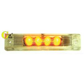 ~GO~FINE 夠好~車用led4LED燈白殼黃光 二線一段熱狗燈led側燈led邊燈l